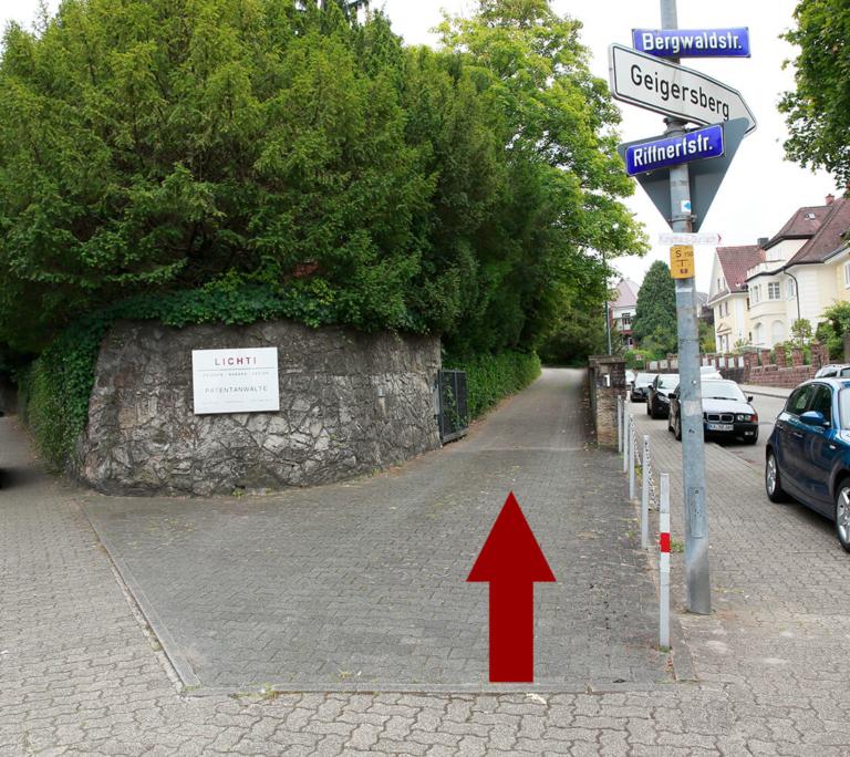 Wegbeschreibung: Patentanwälte in Karlsruhe / Design / Marken Patente